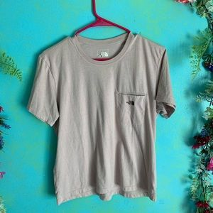 """The North Face """"climb on"""" t shirt w/ front pocket"""